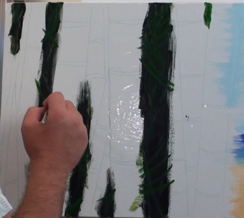 how to paint bamboo in acrylic online art lessons. Black Bedroom Furniture Sets. Home Design Ideas