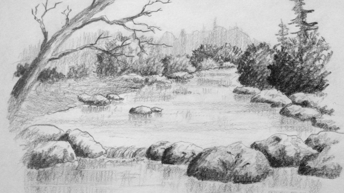 How to Draw Water & Rocks — Online Art Lessons