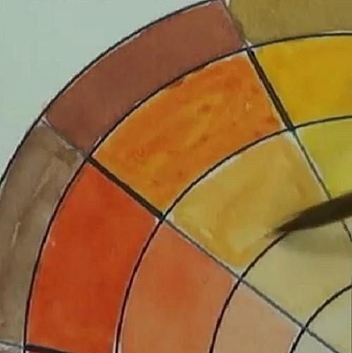how to make a colour wheel