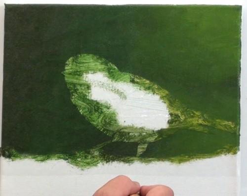 Dessin et peinture vid o 1868 comment peindre l 39 acrylique ou l 39 huile la petite m sange - Peindre a l acrylique ...