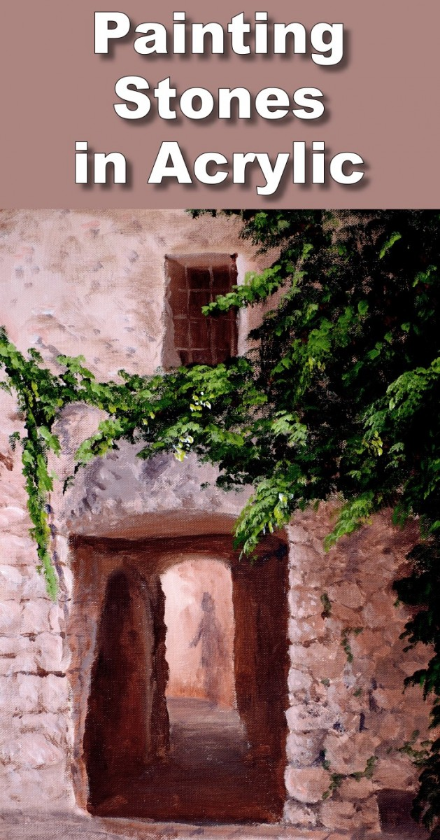 How to paint a stone doorway in acrylic online art lessons for Oil painting lessons near me