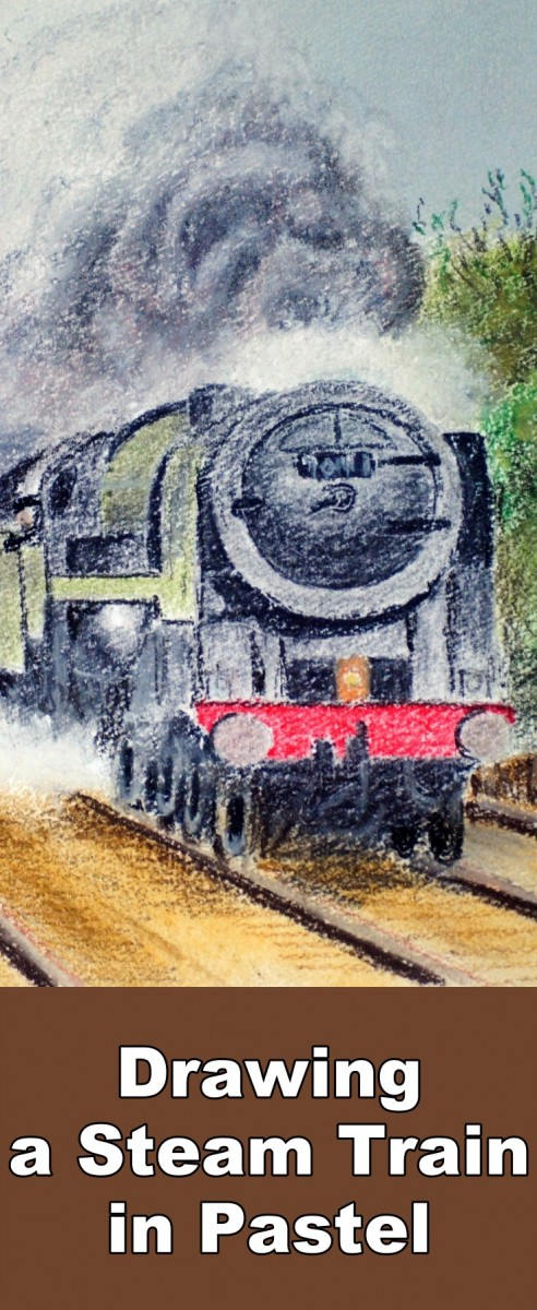 how to draw a steam train easy
