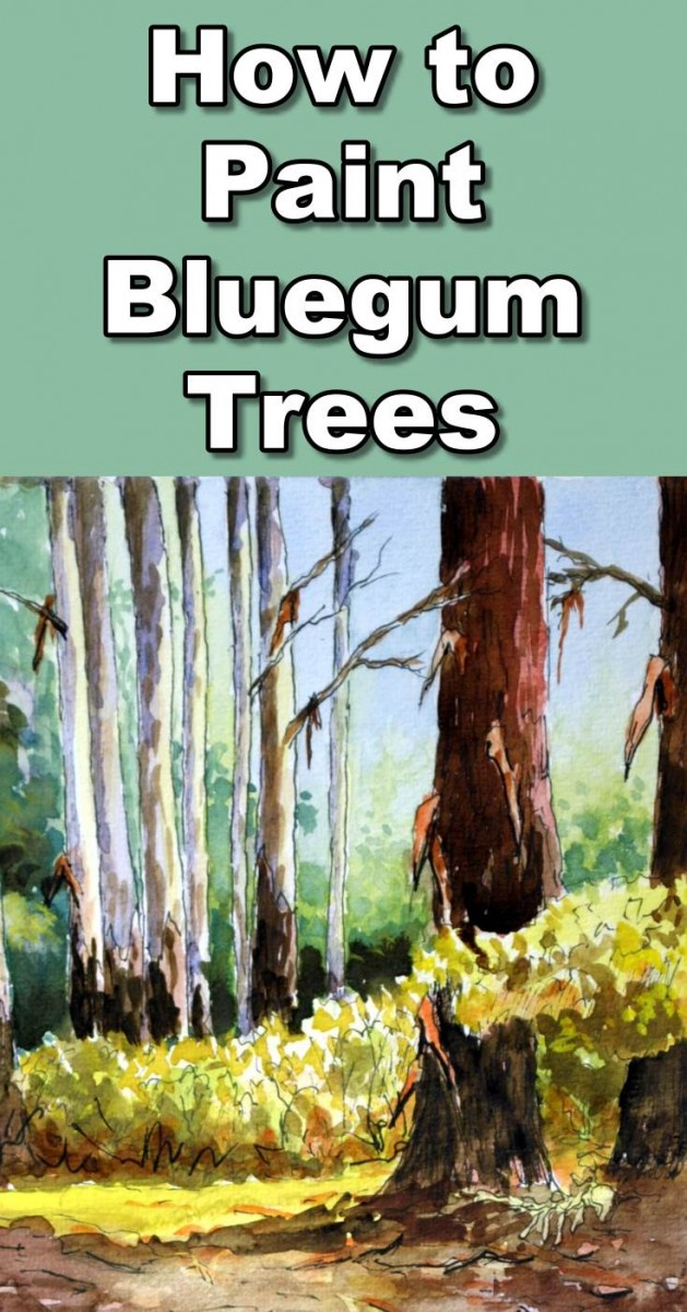 Learn how to paint a forest full of bluegum trees in this watercolor painting tutorial. During the lesson you will learn how to paint plants in the distance, how to paint colorful bluegum trees, how to paint bushes, how to paint the forest floor.  To follow the real time paint along version of this class you can visit our website: http://onlineartlessons.com/how-to-paint-bluegum-trees-in-forest-in-watercolor/  how to paint plants, how to paint bluegum trees, how to paint trees, how to paint bush