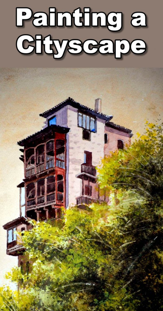 Learn how to paint a beautiful house on a cliff edge in watercolor. During the lesson you will learn how to paint buildings, how to paint houses, how to paint windows and how to paint bushes.  To follow the real time paint along version of this class you can visit our website: http://onlineartlessons.com/how-to-paint-a-house-on-a-cliff-edge-in-watercolor/  how to paint a house, how to paint building, how to paint trees,art, art classes, art lessons, online art lessons, online art classes, waterc