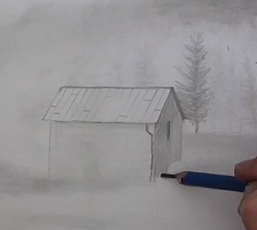 drawing the house