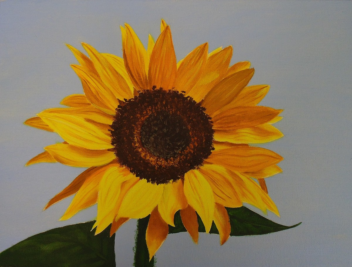 How to paint sunflowers in oil online art lessons for How to paint sunflowers in acrylic