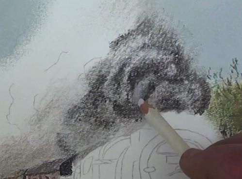 how to draw smoke digital