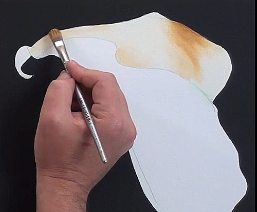 painting the flower