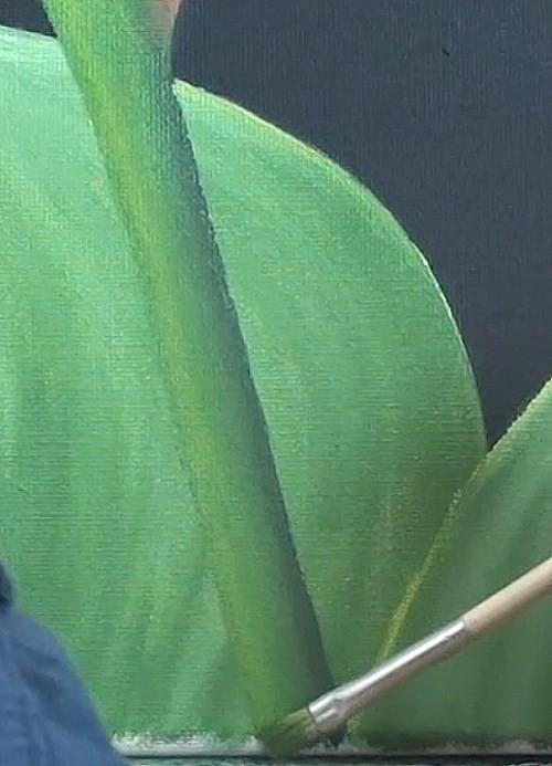Painting the stem
