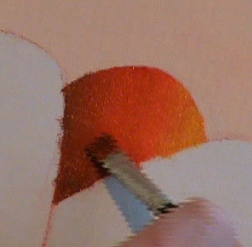 start painting the petals