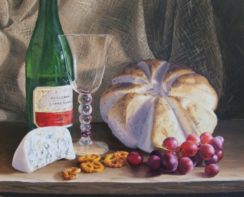 final painting of a classic still life