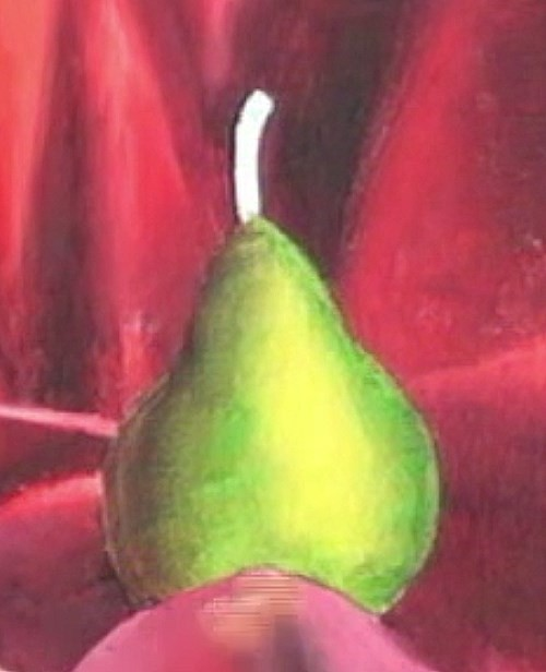 painting the pear
