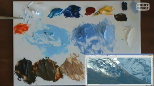colors used to paint the mountains