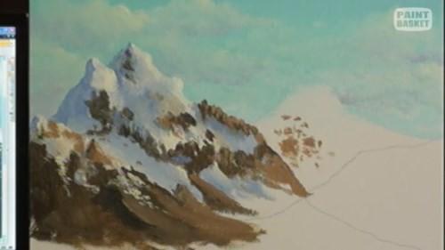 mountain foreground