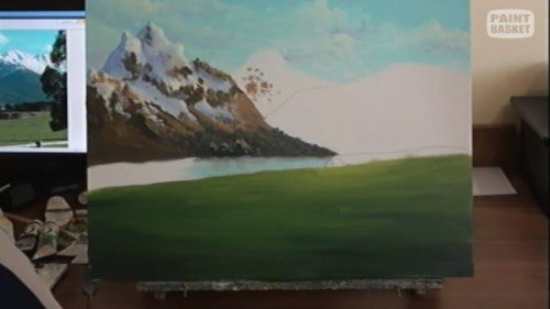 adding greenery to the foreground