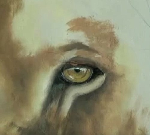 painting the right eye