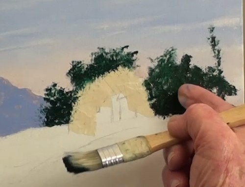 paint distant trees