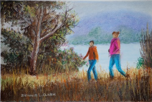 final drawing figures in pastel