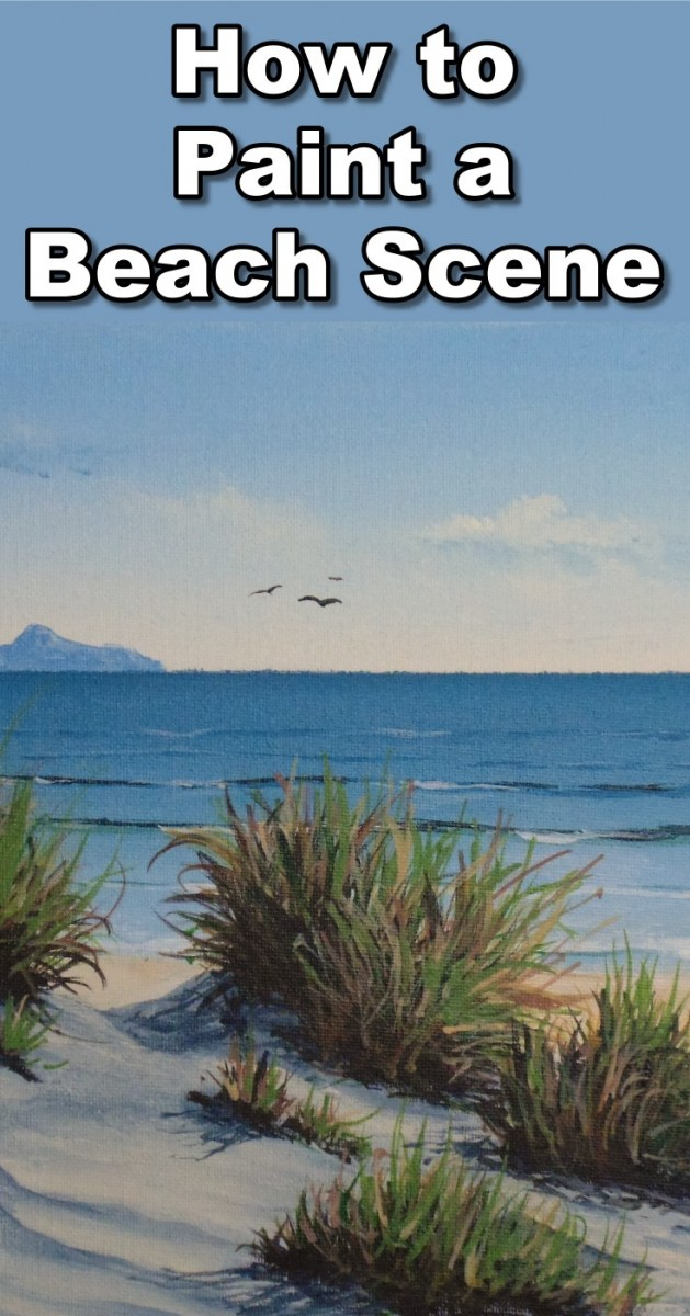how to paint a beach scene in acrylic