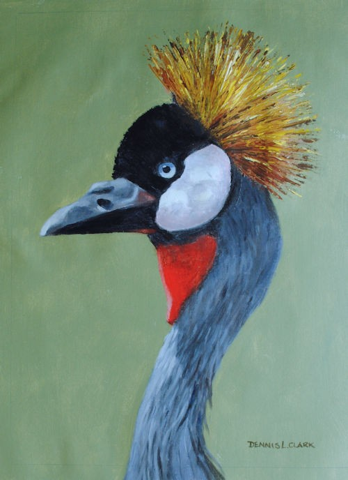 final-painting-crowned-crane-in-acrylic