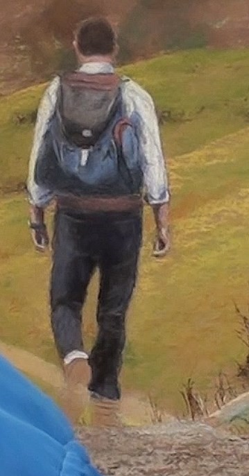how-to-draw-a-hiker-walking-in-pastel-hiker