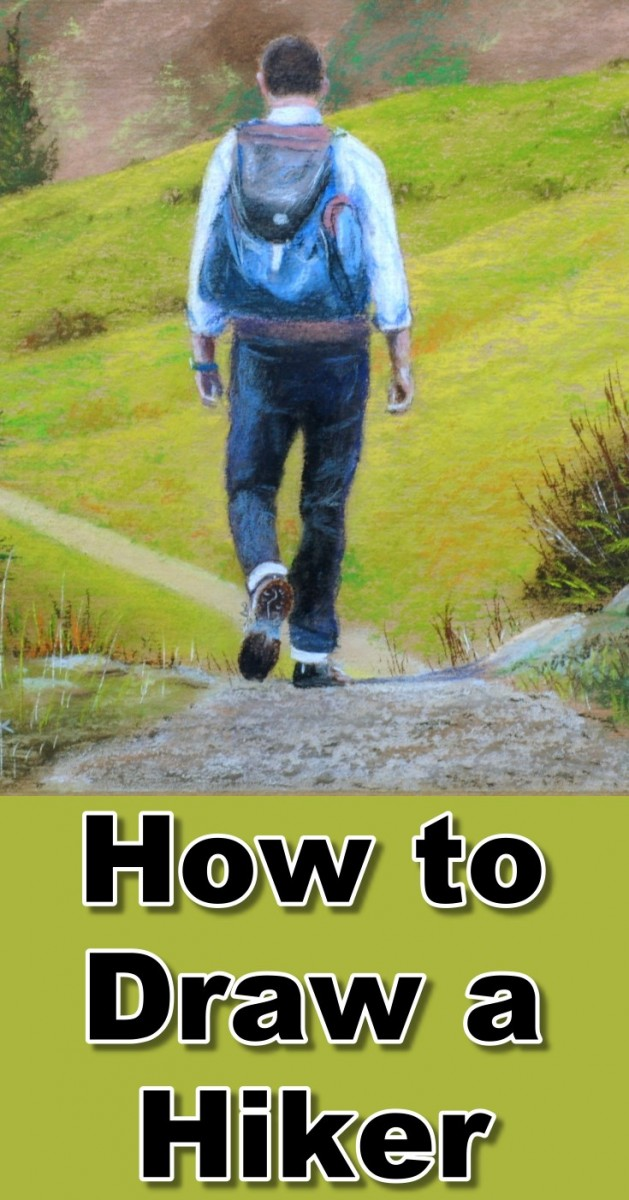 how-to-draw-hiker-in-pastel