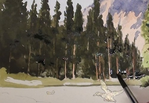 final-painting-peaceful-mountains-stream-in-watercolor-left-hand-trees