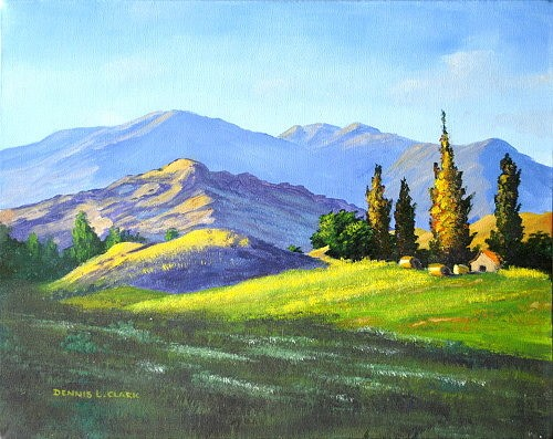 final-painting-early-morning-mountains-in-acrylic
