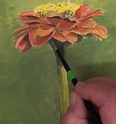 final-painting-bird-in-acrylic-flower-and-stem