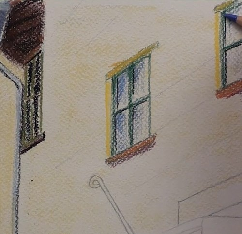 final-drawing-tuscan-stairway-in-pastel-main-wall