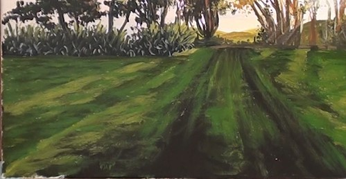 how-to-paint-sunset-trees-in-acrylic-field