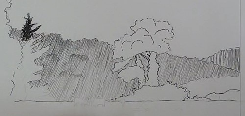 how-to-draw-a-meadow-scene-landscape-in-pen-and-ink-distant-hills