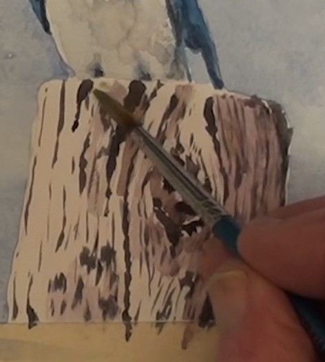 how-to-paint-two-swallows-in-watercolor-wooden-post