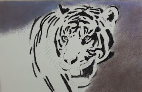 how-to-draw-a-tiger-portrait-in-pastel-background