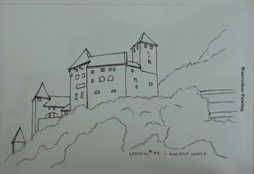 How To Paint An Ancient Castle In Watercolour Online Art Lessons