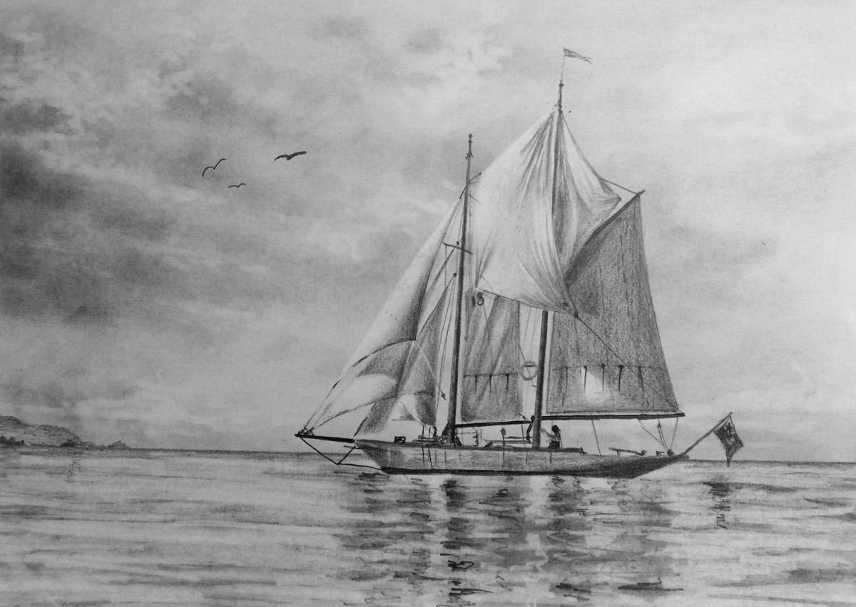 Learn how to draw a sailboat with this online art lessons by the Paint Basket and Nolan Clark