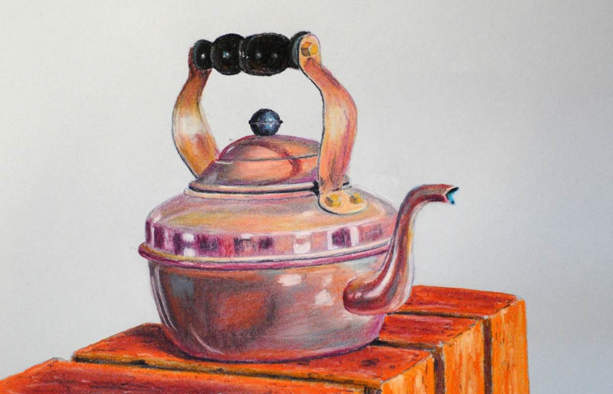 Copper Colour Painting Art
