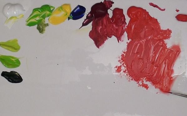 colour mixes for apple with wet paint