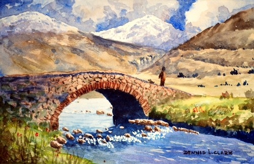 How To Paint A Stone Bridge In Watercolour Online Art