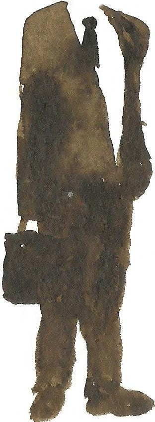 painting of a figure without head