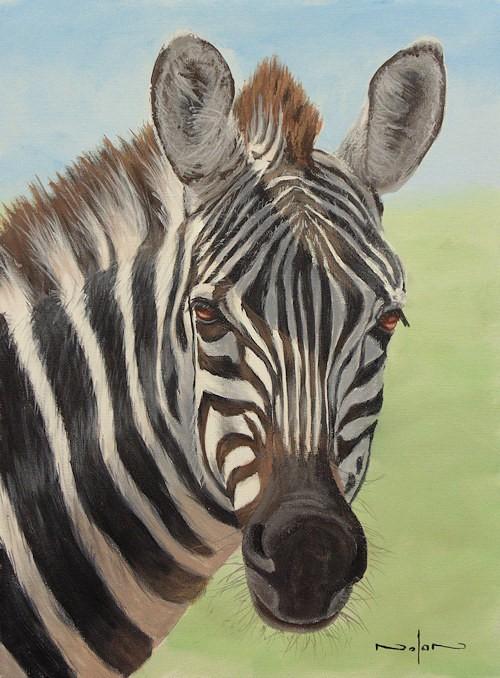 final zebra painting