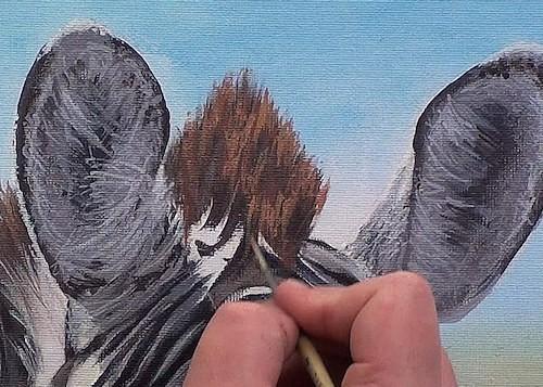 painting the sunlit mane
