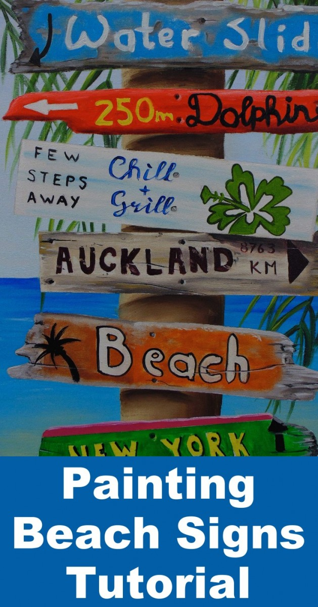How To Paint Beach Signs Online Art Lessons