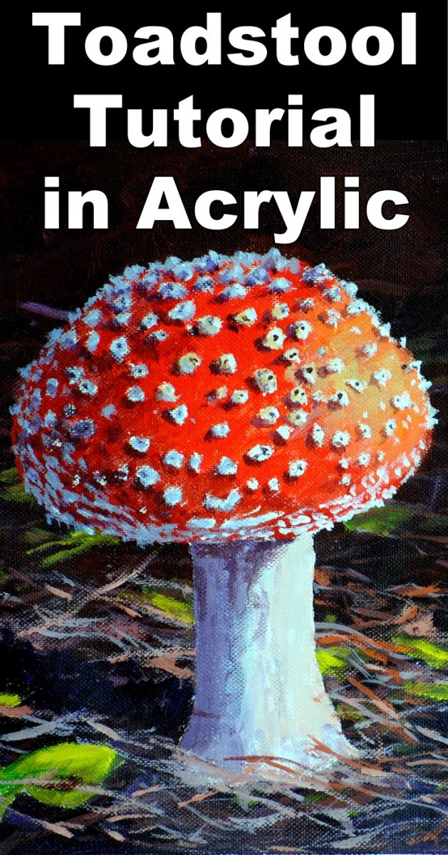 How To Paint A Mushroom In Acrylic Online Art Lessons