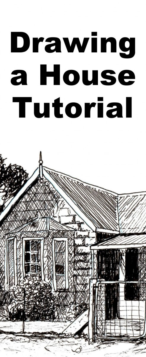 Mansion Drawing: How To Draw A Farmhouse In Pen And Ink