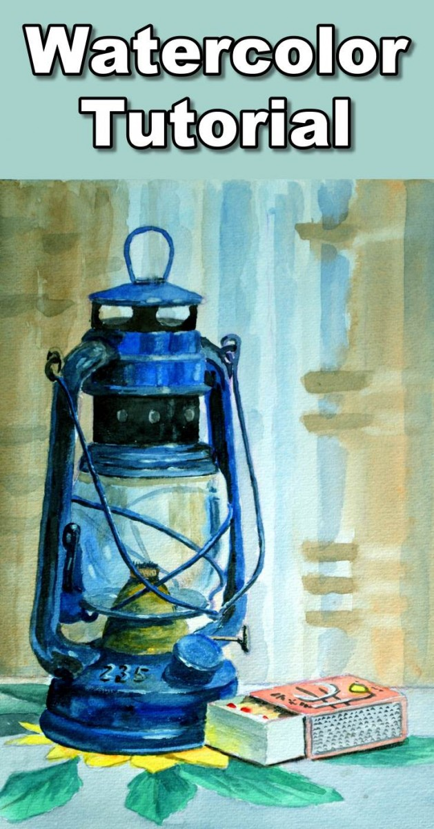Learn how to paint a beautiful still life in watercolor. The still life tutorial will show you how to paint curtains in the background, how to paint a table cloth, how to paint a hurricane lamp and how to paint transparent glass and how to paint a box of matches.  To follow the real time paint along version of this class you can visit our website: https://onlineartlessons.com/how-to-paint-a-hurricane-lamp-in-watercolor/  how to paint a still life, still life painting tutorial, watercolor still li