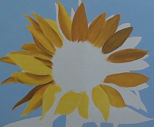 painting the tonal values of the petals