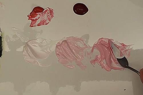 how to paint a rose in acrylic pink tonal colors