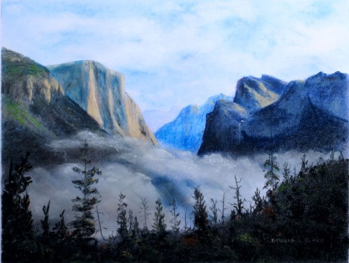 How To Draw Mist In The Valley In Pastel Online Art Lessons