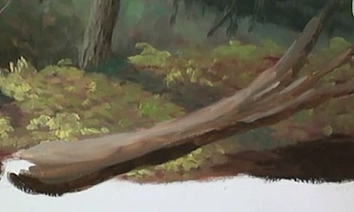 painting the main tree